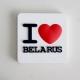 """Дэкаратыўны магніт """"I Love Belarus"""""""