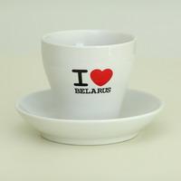 """Кубак са сподкам """"I Love Belarus"""""""