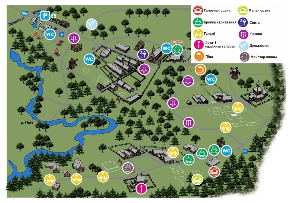 Фестывальная мапа