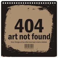 Натхняльнік 17х17. Art not found 404 (нататнік)