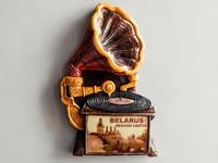 Дэкаратыўны магніт. Стары грамафон